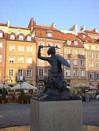 Warsaw Mermaid Market Square