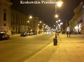 Krakowskie Przedmiescie at Night